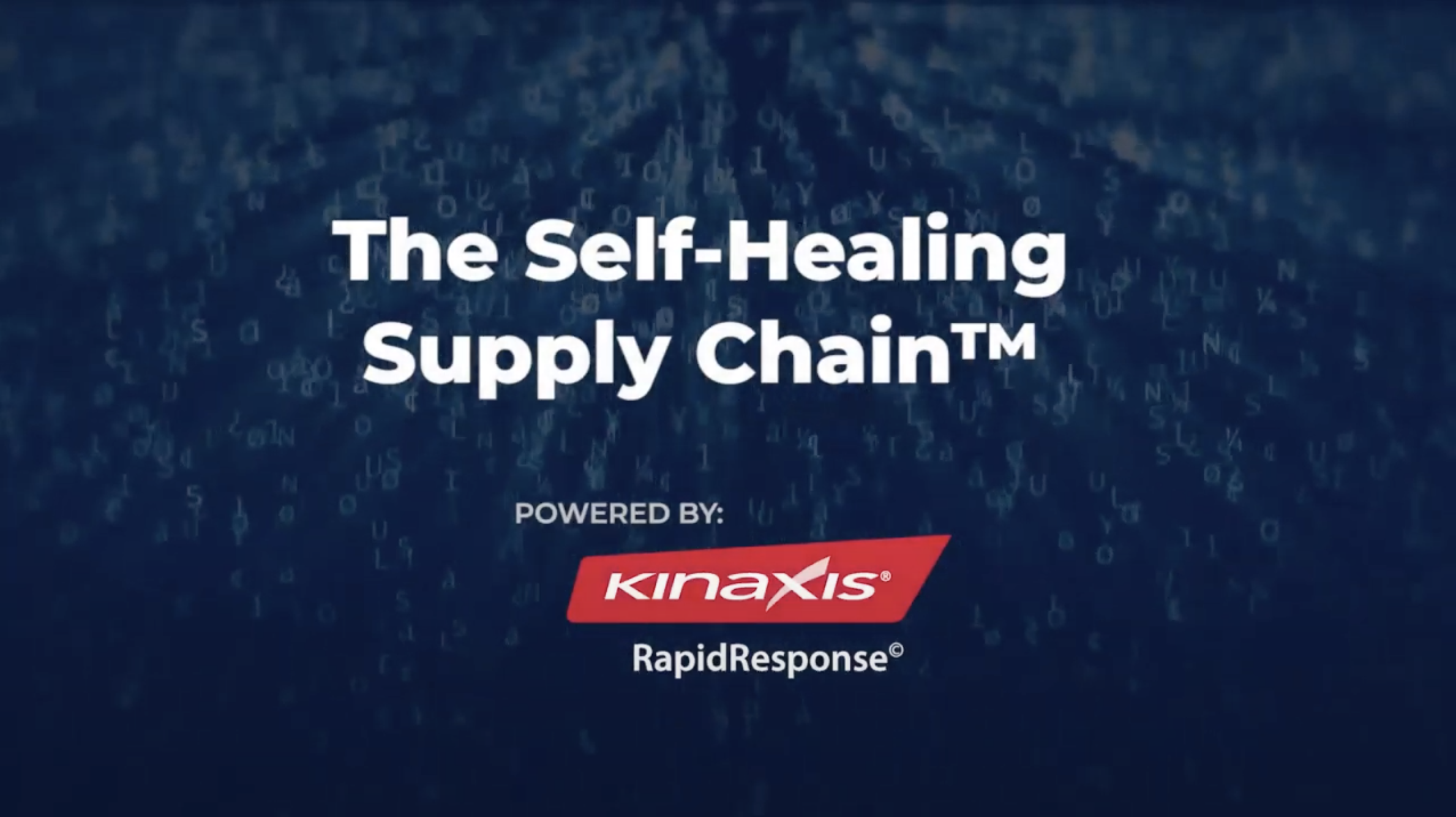 The self-healing supply chain