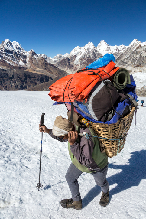"""Sherpa"" refers to the guardian angels in the Himalayas who carry loads up mountains."