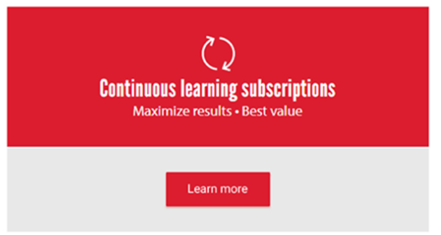 Continuous learning subscription graphic
