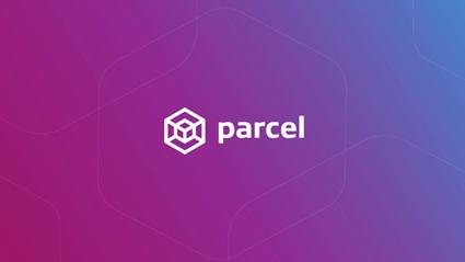 Parcel logo on a purple gradient background