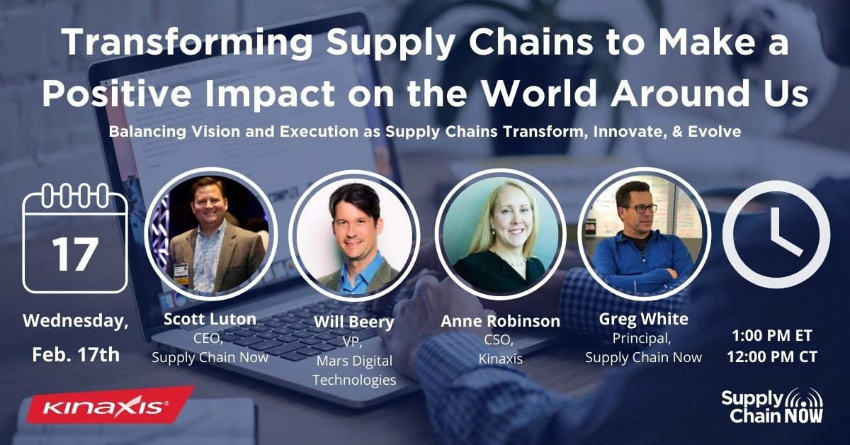 "Register for ""Transforming Supply Chains to Make a Positive Impact on the World Around Us"""