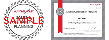 Sample badge and certificate