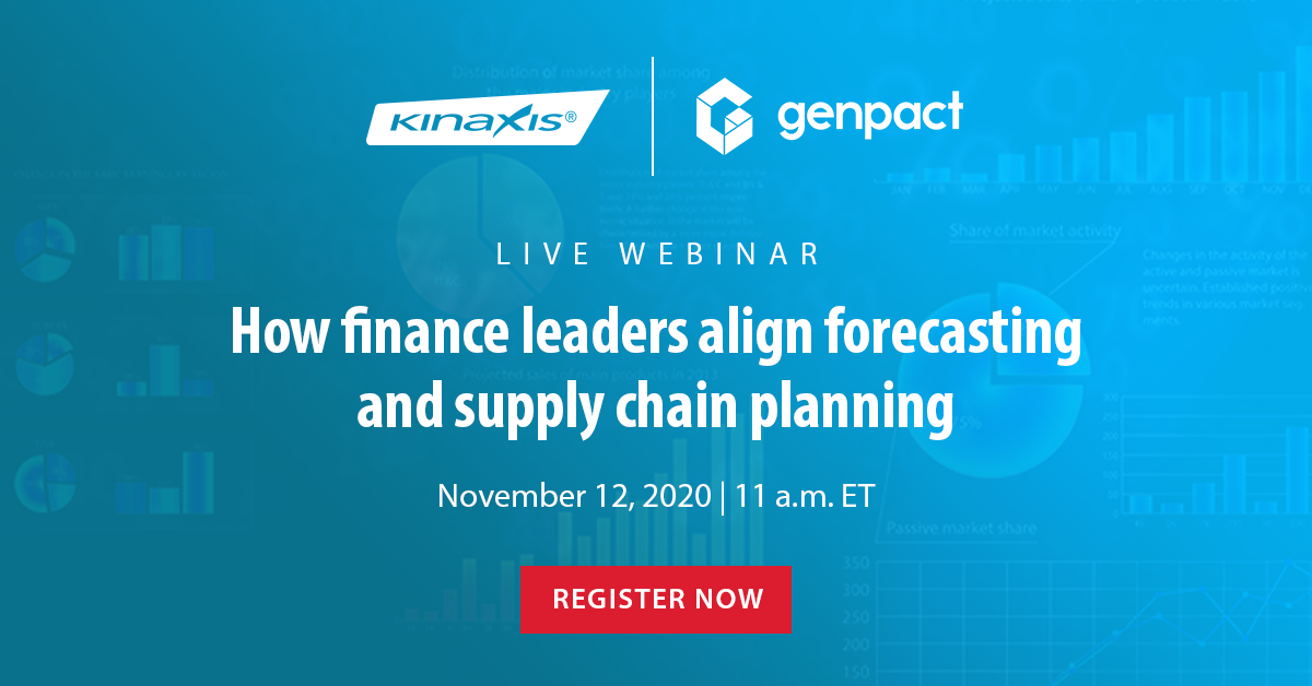 "Register for our webinar, ""How Finance Leaders Align Forecasting and Supply Chain Planning to Improve Efficiency, Strategic Decision Making, and Performance."""